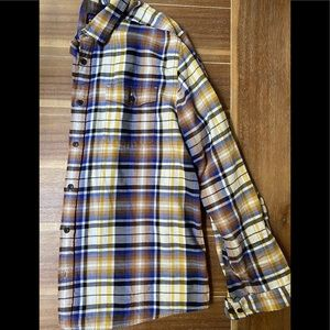 Blue and brown Patagonia flannel